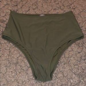 High waisted bathing suit bottoms